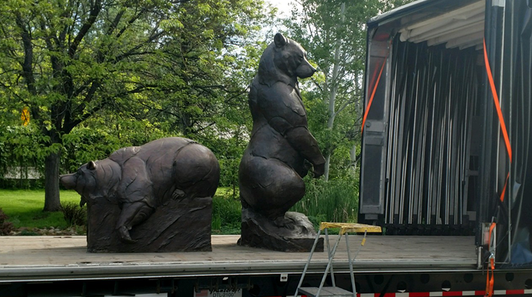 Safeway Specialty Flatbed Moves Prized Sculpture Collection